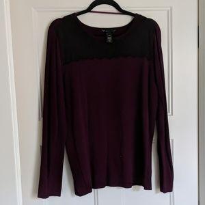 Lace embwlished lane Bryant sweater